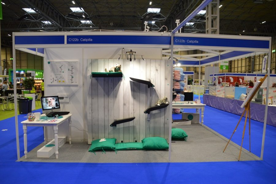 Catipilla exhibition booth